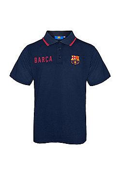 FC Barcelona Boys Polo Shirt - Blue
