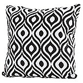 4 Seasons - 50cm Scatter Cushion with Zipper - Black