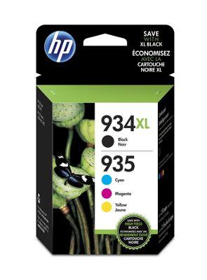 HP 934XL High Yield Black/935XL Cyan/Magenta/Yellow 4-pack Original Ink
