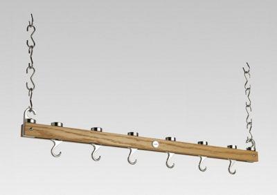 Hahn Premium Single Bar Hanging Rack in Solid Oak