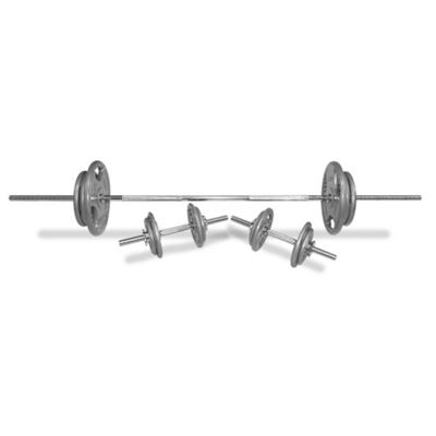 Body Power 72Kg 7FT Tri-Grip Spinlock Weight Set