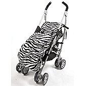Genesis Zebra Fleece Universal Footmuff Cosy Toes