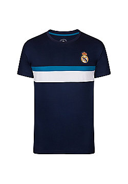 Real Madrid Boys Poly T-Shirt - Navy