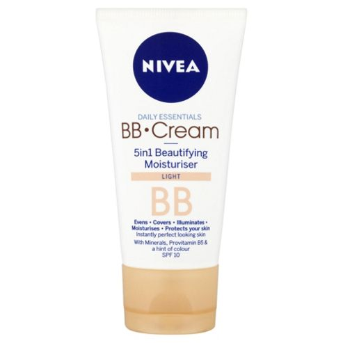 NIVEA Daily Essentials BB Cream 5in1 Beautifying Moisturiser Light SPF 10 50ml