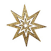 Gold Glitter Star Hanging Christmas Decoration
