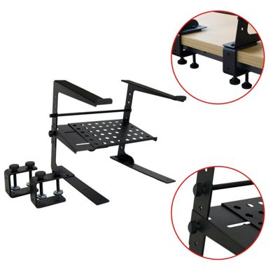 Tiger Laptop Stand / DJ Stand with Shelf and Clamps