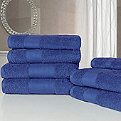 Dreamscene Luxury Egyptian Cotton 7 Piece Bathroom Towel Set - Blue