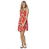 F&F Floral Jersey Slip Dress - Orange