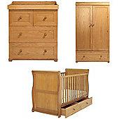 East Coast Langham Sleigh 3 Piece Nursery Room Set