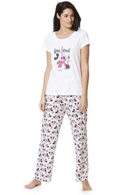 Disney Love Struck Mickey and Minnie Pyjamas White 6