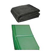 8 Ft Trampoline Accessory pack - Green Pad and Netting