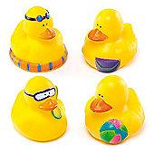 Seaside Rubber Ducks (Pack of 4)