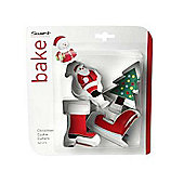 Christmas Santa Cookie Cutters, Set of 4