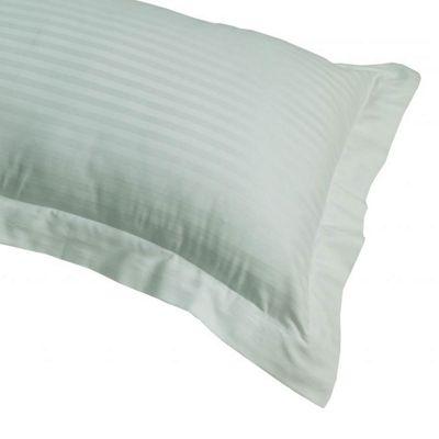 Homescapes Aqua Blue Egyptian Cotton Satin Stripe Oxford Pillowcase 330 TC, Standard Size Pillow Cover