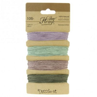 Pure Hemp 0.5mm Vintage Colours