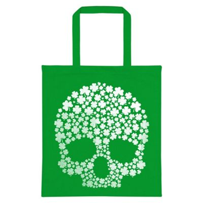 St Patrick's Day Lucky Skull Green Tote Bag