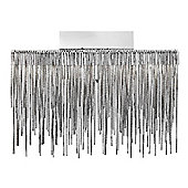 Modern LED Chrome Wall Light Fitting with Mini Chain Mail Decoration