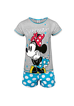 Disney Minnie Mouse Eeyore Ladies Short Pyjamas - Blue