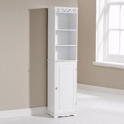 Elements Corella Tall Cupboard in White