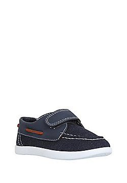 F&F Riptape Boat Shoes - Navy