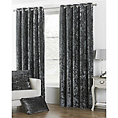 Riva Home Crushed Velvet Verona Eyelet Curtains - Natural
