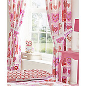 Lace Hearts Curtains 54s