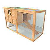PawHut Wooden Chicken Coop Waterproof Roof Poultry Hutch with Hen Nest Box