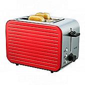 Prestige Pearlescent 2-Slice Toaster, Non-Slip Feet, Stainless Steel Body, (Red)