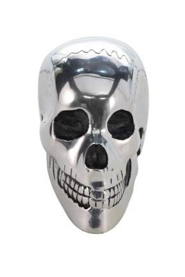 Large Silver Skull Ornament