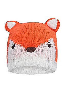 Mountain Warehouse Fox Knitted Kids Hat - Orange
