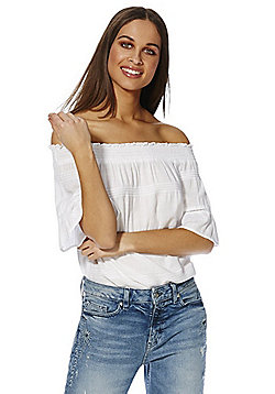F&F Off the Shoulder Top - White
