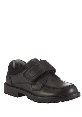 F&F Riptape Leather School Shoes 13 Child Black