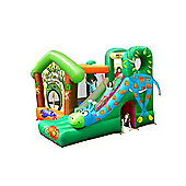 Jungle Fun Bouncy Castle with Giraffe Slide - Rideontoys4u