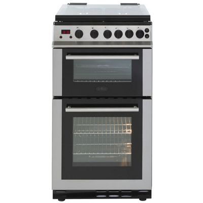 Belling FS50GDOLM - 500mm Double Gas Cooker with 4 Burners, Stainless Steel