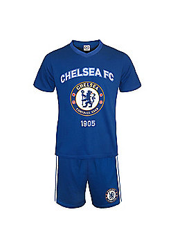 Chelsea FC Mens Short Pyjamas - Blue