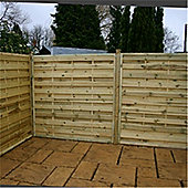 4FT Pressure Treated Horizontal Weave Fencing Panels - 1 Panel Only 4' - Fast Delivery - Pick A Day