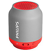 Philips BT 50 Bluetooth Speaker, Grey & Coral