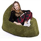 Lounge Pug® Extra Large Bean Bag - Cord Lime Green