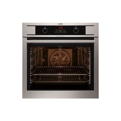 AEG BP300322KM 600mm Built-In Single Electric Oven, Multi-Function - Stainless Steel