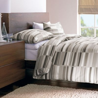 Dreams N Drapes Memphis Double Duvet Set - Natural Colour with matching pillowcases