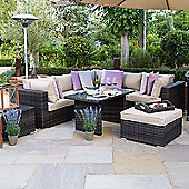 Nova - Chelsea Outdoor Corner Sofa Casual Dining Set - Brown
