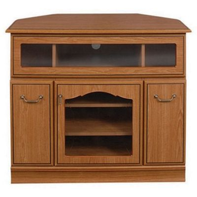 Caxton Lichfield Wooden Corner Entertainment Cabinet for LCD / Plasmas