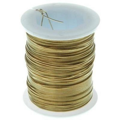 Brass Wire - 28 gauge - Gold 24yds