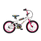 "Concept Graffiti 18"" Wheel Kids BMX Bike White"