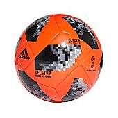 adidas Telstar Fifa World Cup 2018 Glider Football Soccer Ball Solar Red/Black - 5