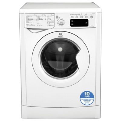 Indesit IWE81281 Eco, Freestanding Washing Machine, 8Kg Wash Load, 1200 RPM Spin, A+ Energy Rating, White