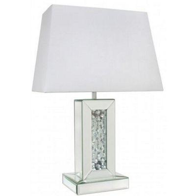 Stylish Table Lamp Rectangular Shade - Living Room Lighting Decor