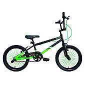 "Tiger UC X1 BMX Bike 18"" Black Green"