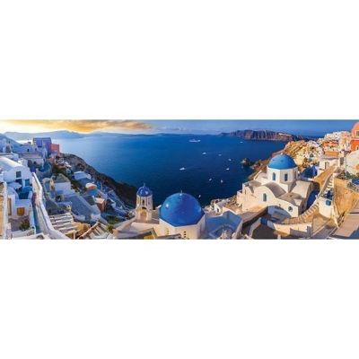 Santorini - Greece - Panoramic - 1000pc Puzzle
