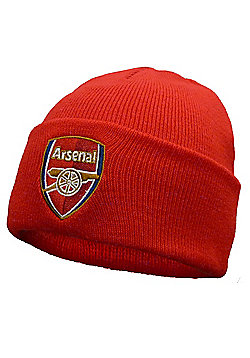 Arsenal FC Knitted Hat Crest - Red